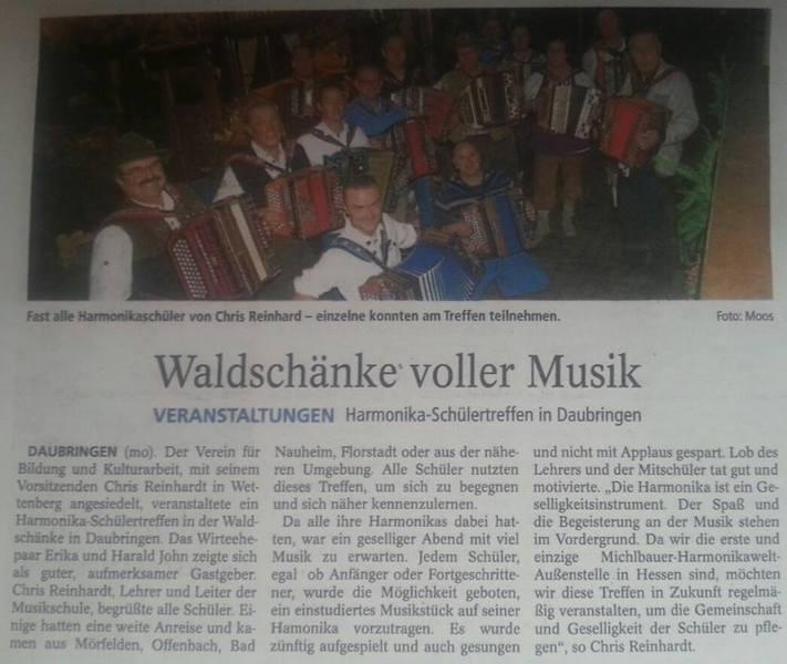 Musikschule Wettenberg Harmonikaschule - Rundfunk Presse